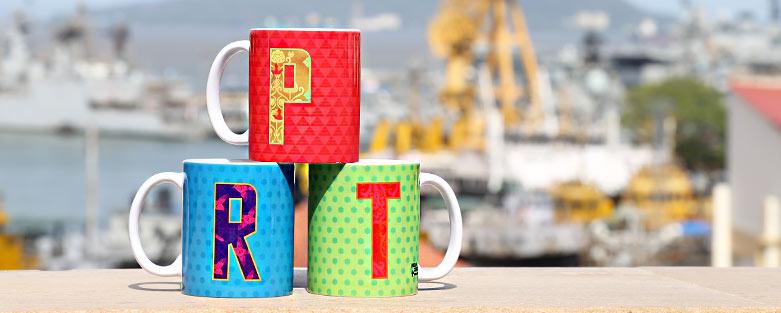 Alphabet Coffee Mugs