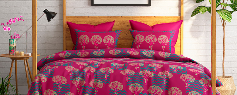 Buy Designer Bed Sheet online