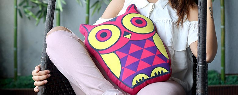 Printed Shaped Cushion Online for Sofa & Bed
