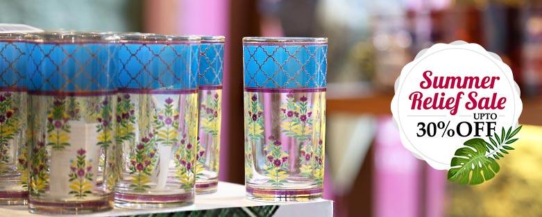 Glass and Bone China Tumblers
