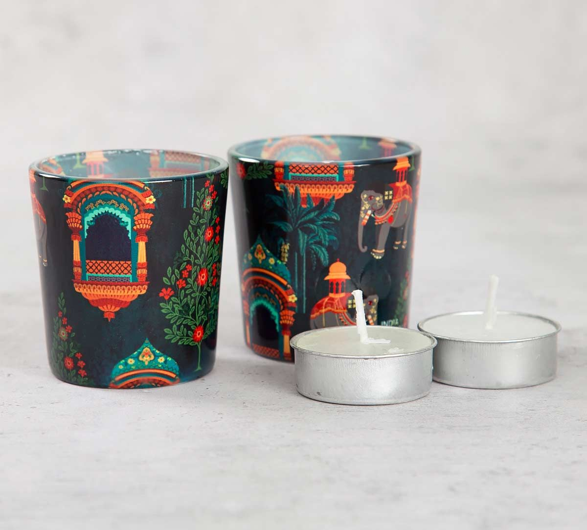 India Circus Sovereign Cavaliers Tea Light Holder Set of 2