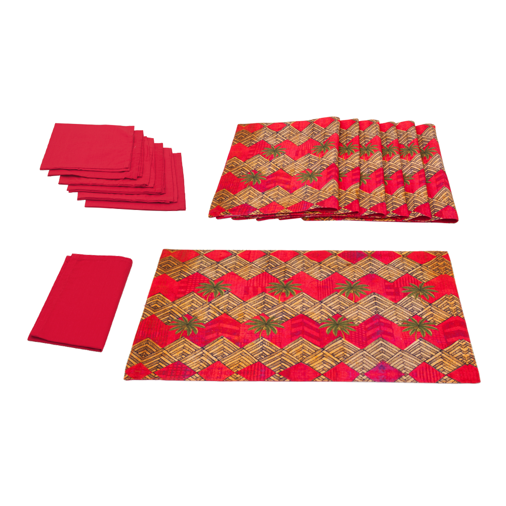 Zig-Zag Table Mat & Napkin Set