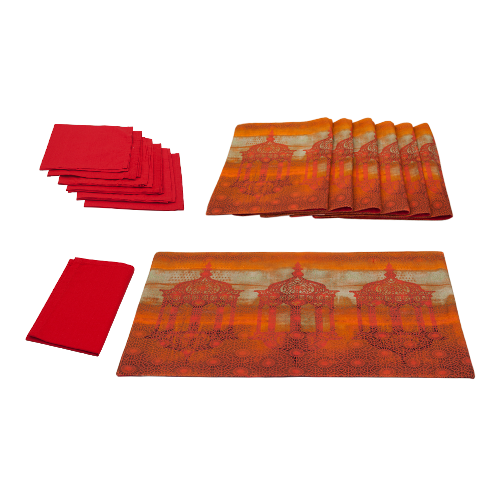 Minaret Mystique Table Mat & Napkin Set