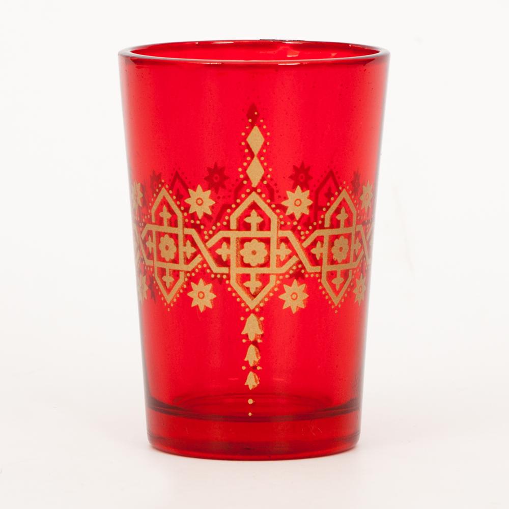Crimson Fantasia Moroccan Glasses