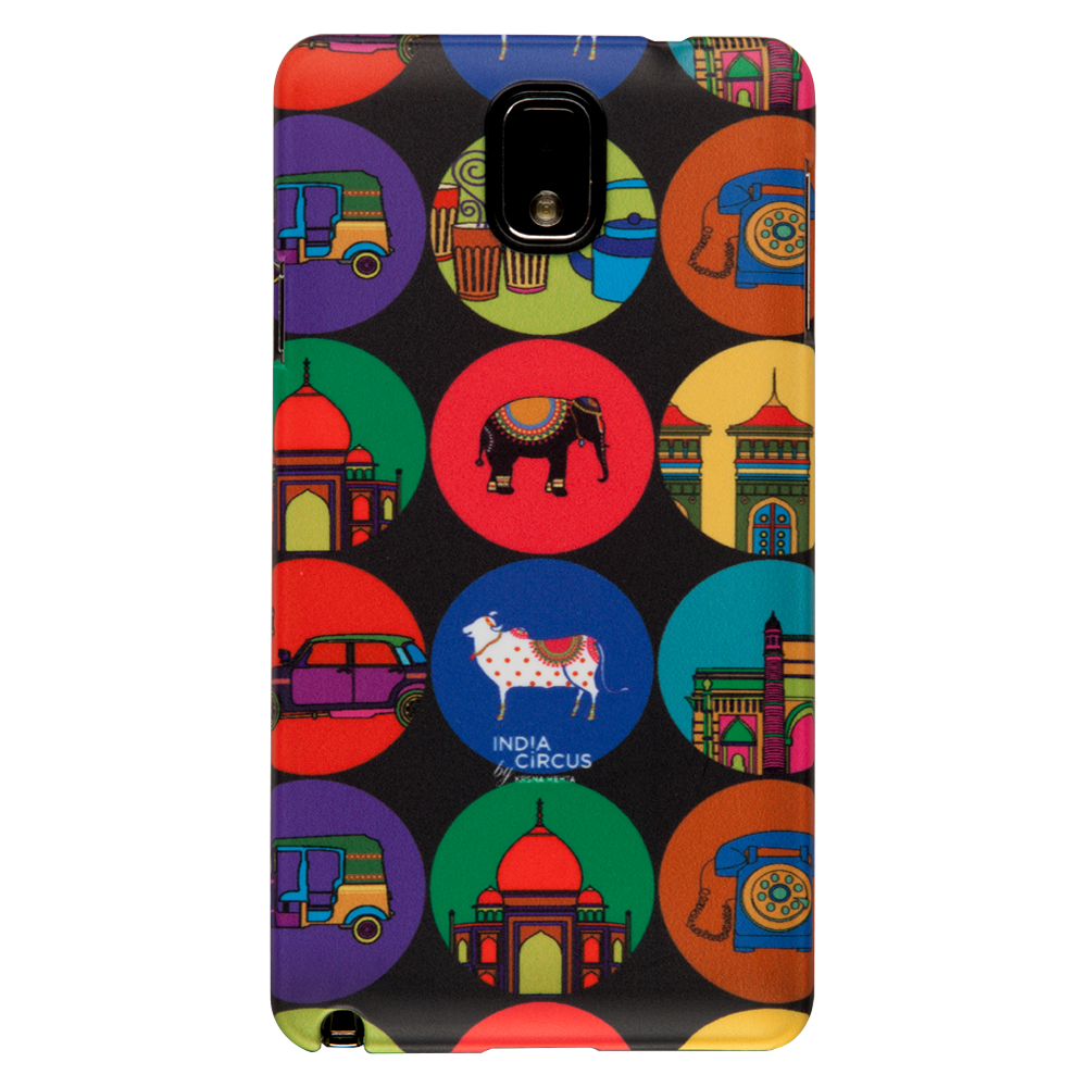 India Vibrant Samsung N3 Cover