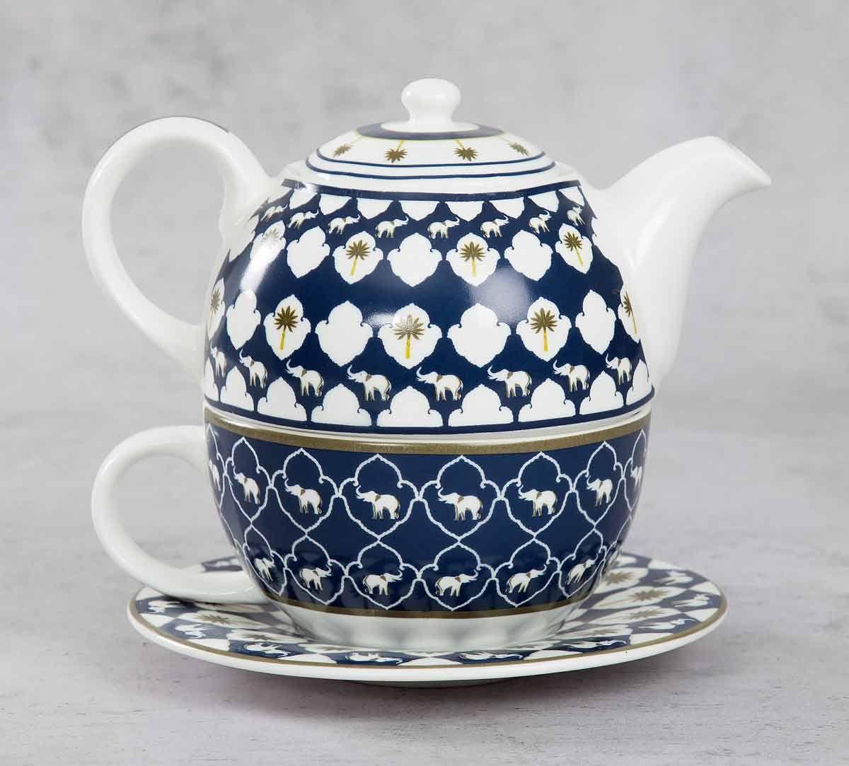 India Circus Ivory Parade Fantasy Tea for One