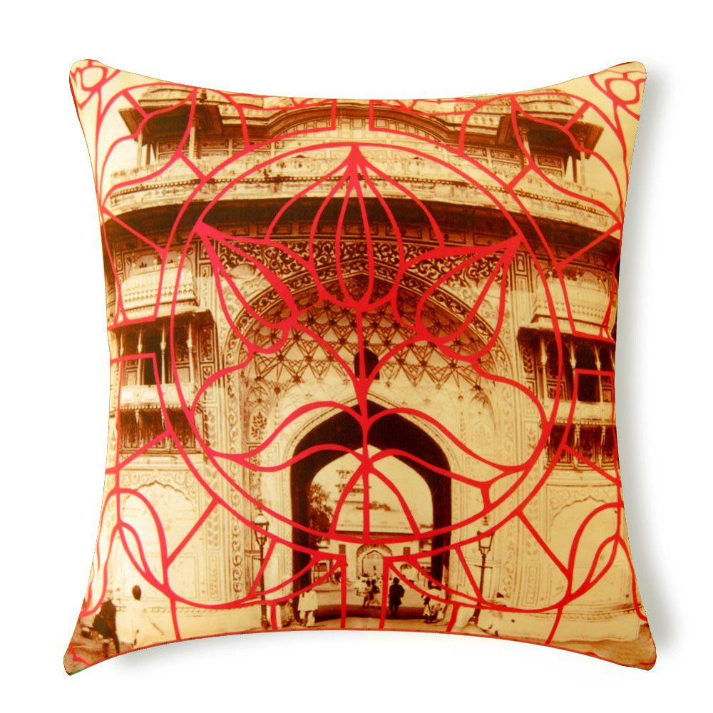 Rustic Tones Poly Silk Cushion Cover
