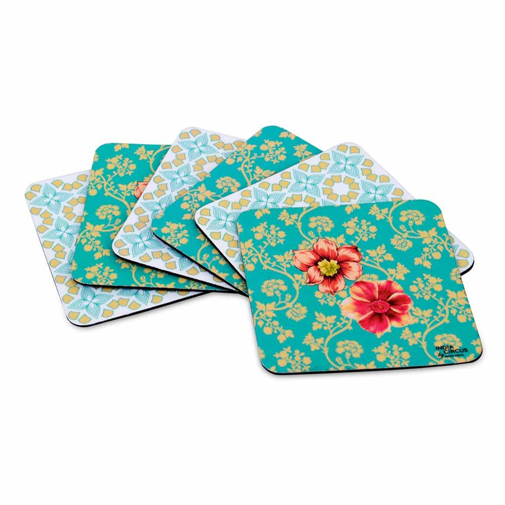 Tamara Vintage Elegance Rubber Coasters