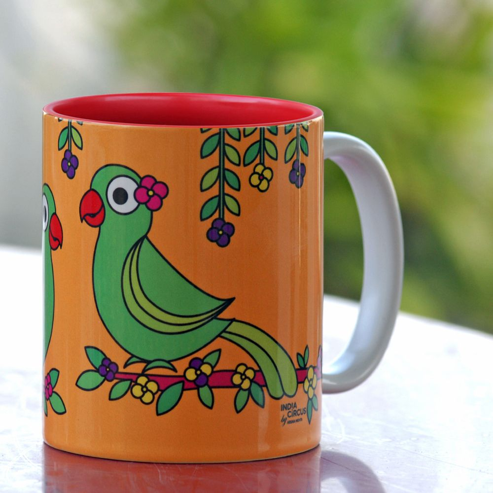 Jalebi Talking Parrots Mug