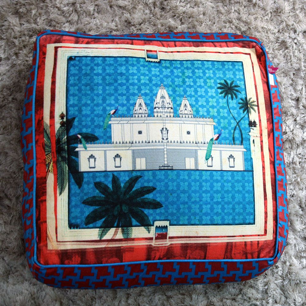 Neo Nawab Pristine Abode Floor Cushion Cover