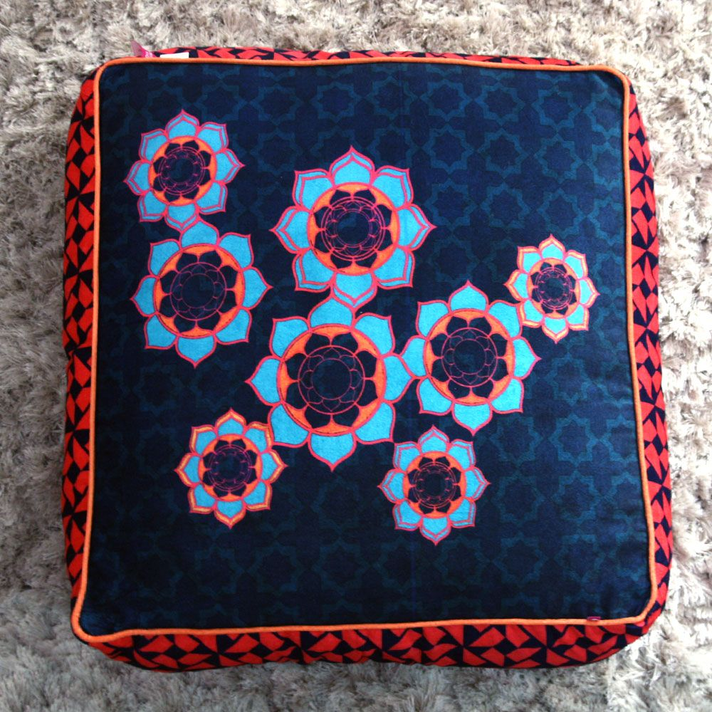 Tamara Flower Rings Floor Cushion Cover