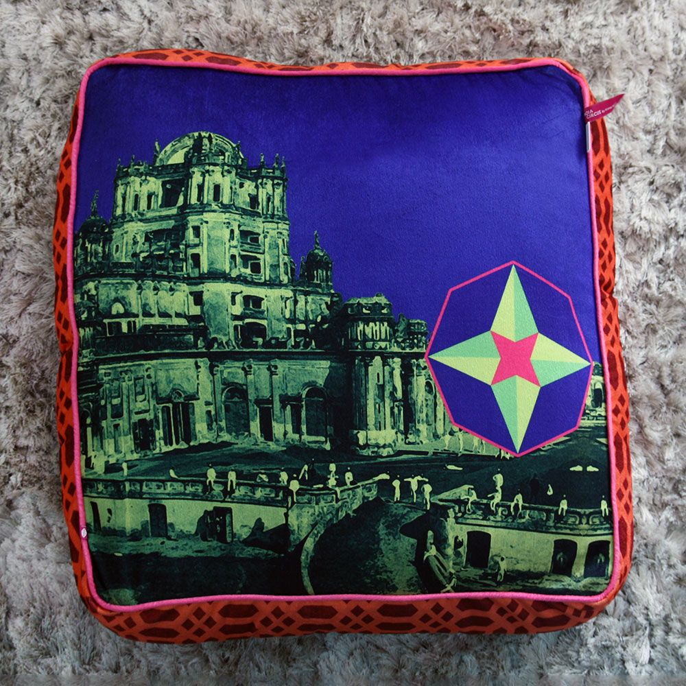Jalebi Neon Palace Floor Cushion Cover