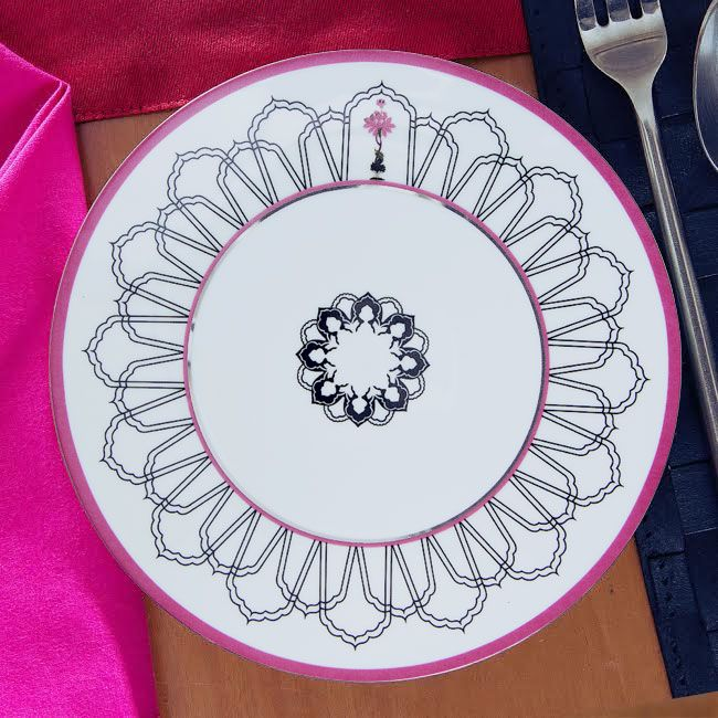 Stars of the Nawab Dinner Plate