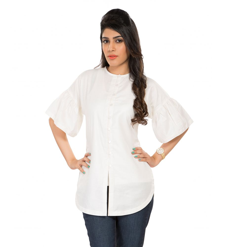 White Fantasy Silk Shirt