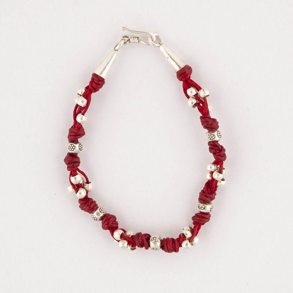 Silver Red Bracelet