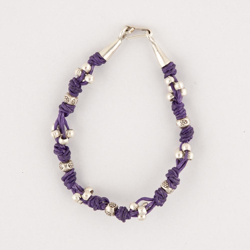 Silver Purple Bracelet