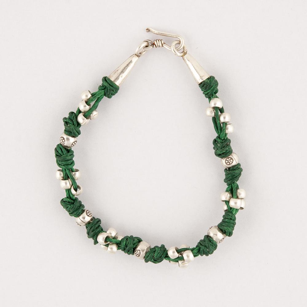 Silver Green Bracelet