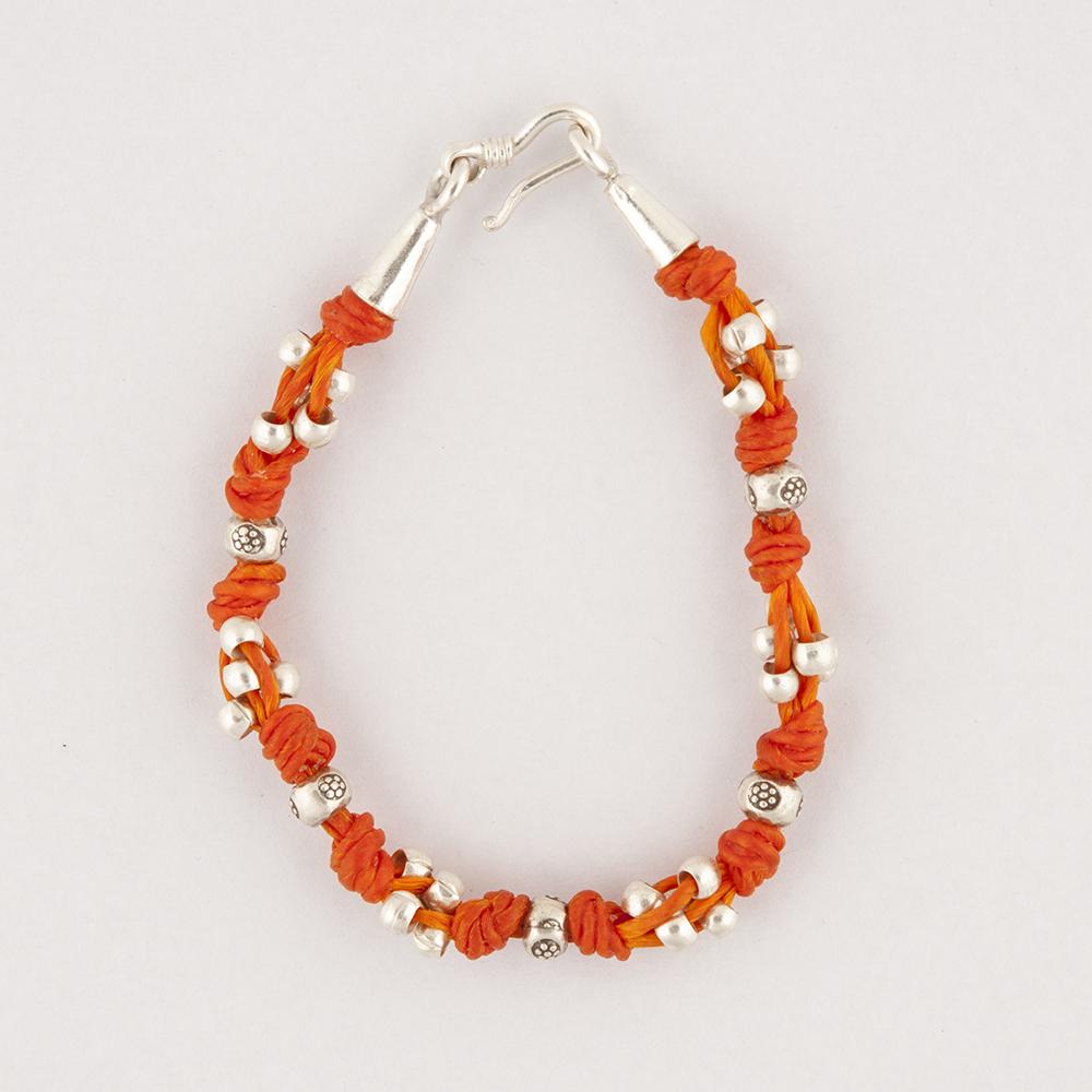 Silver Orange Bracelet