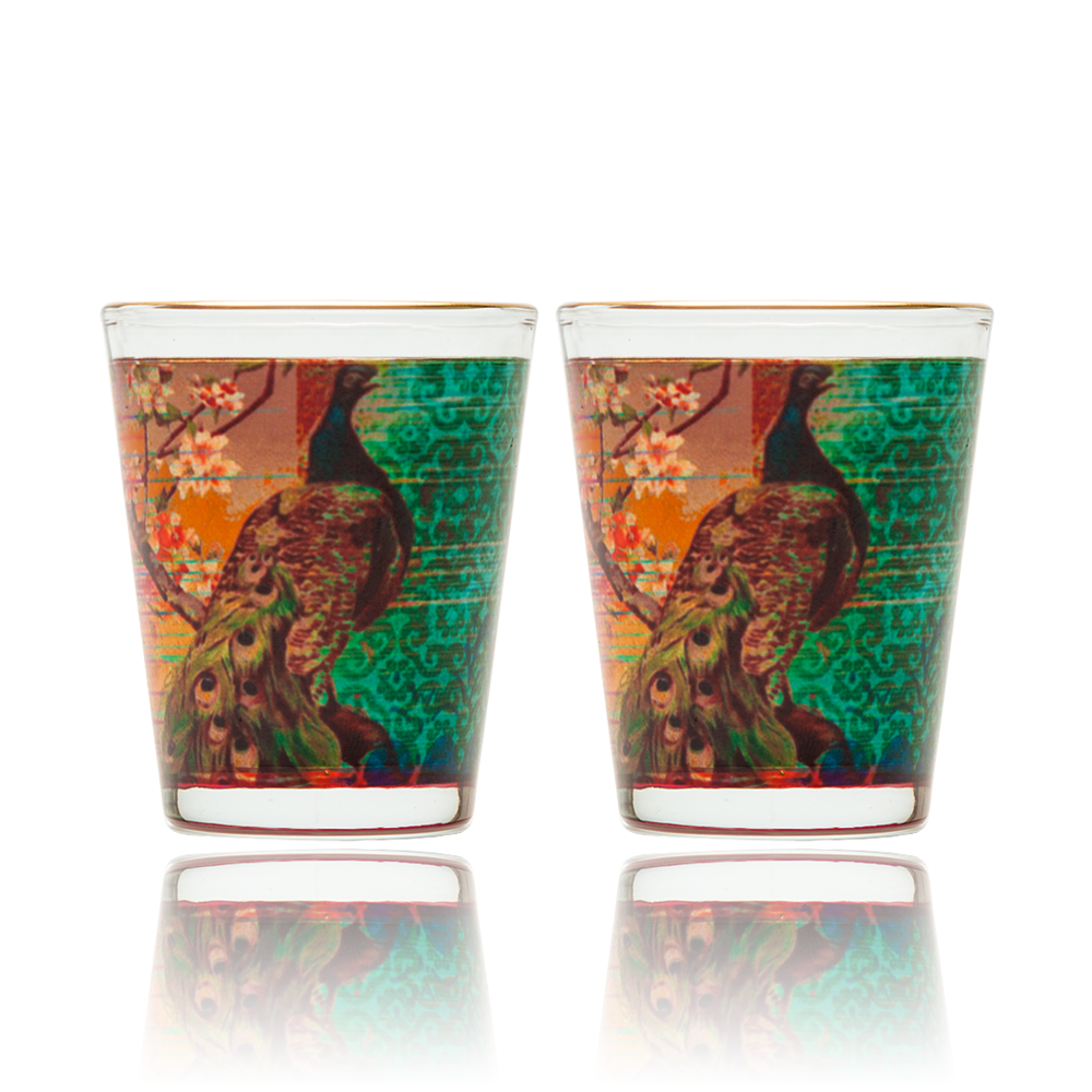 Peacock Flower Shot Glass