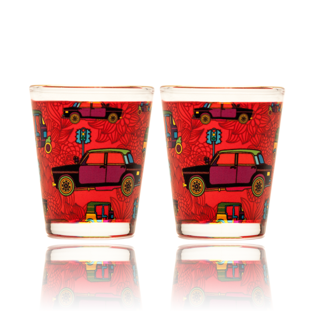 Funky Transport Shot Glass
