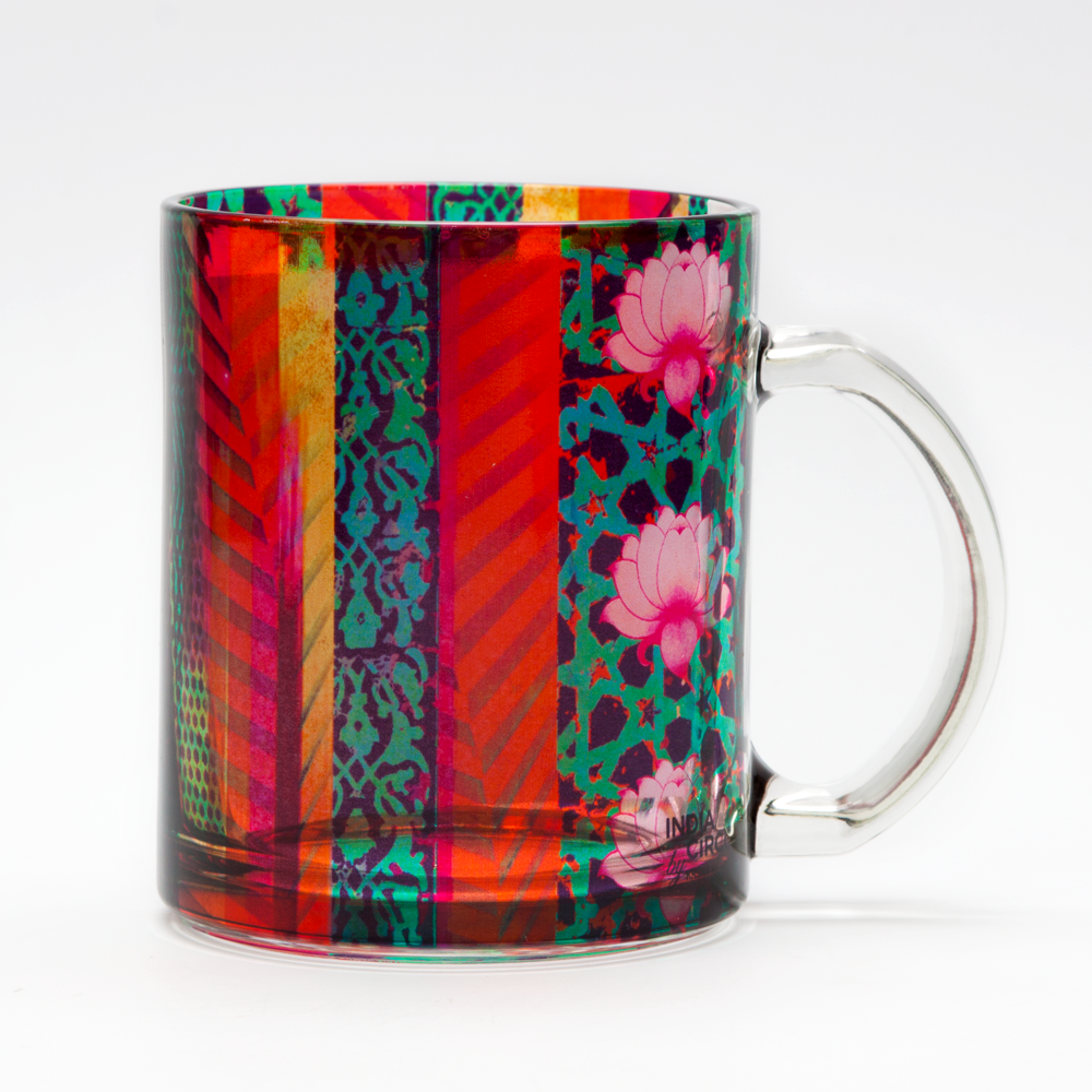 Flower Quill Glass Mug