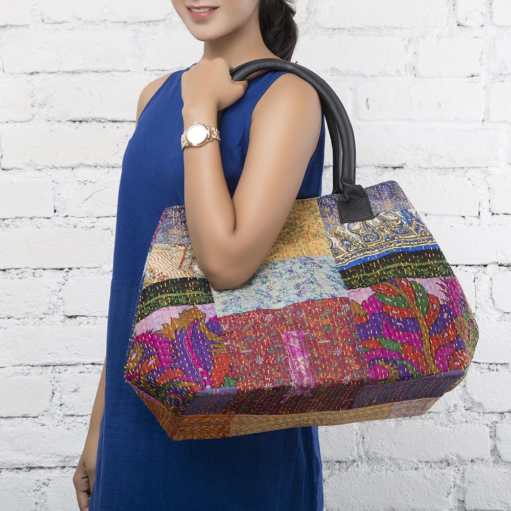 Patola Kantha Silk Small Bag