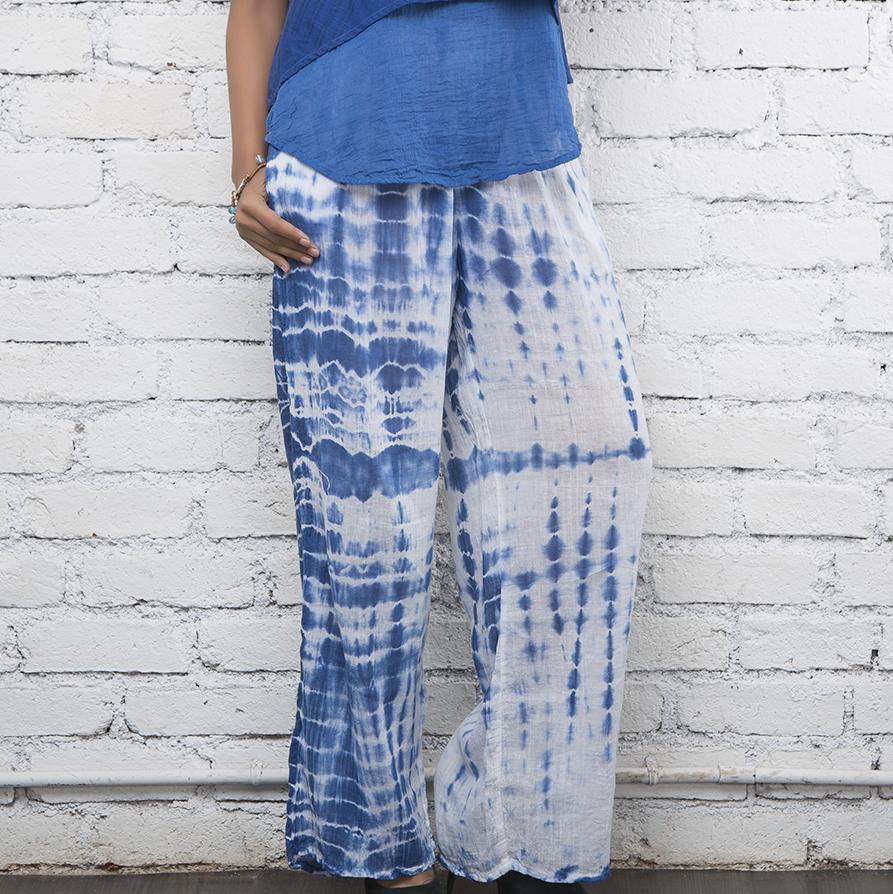 Tie & Dye Cotton Pallazo Pants