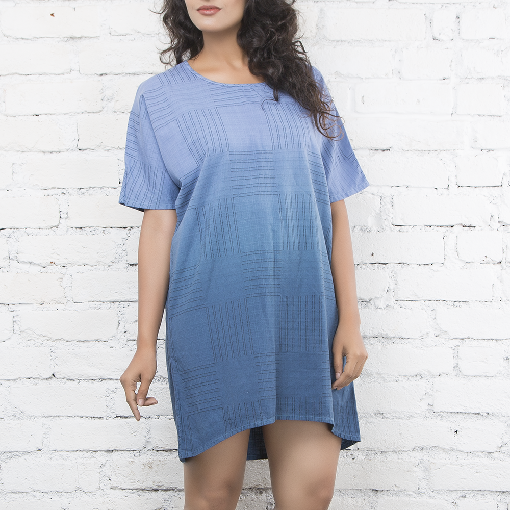 Indigo Ombre Dress