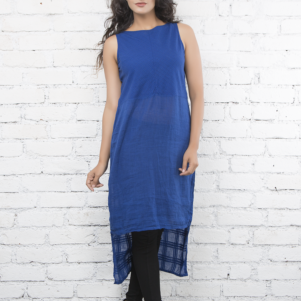 Indigo Textured Dress