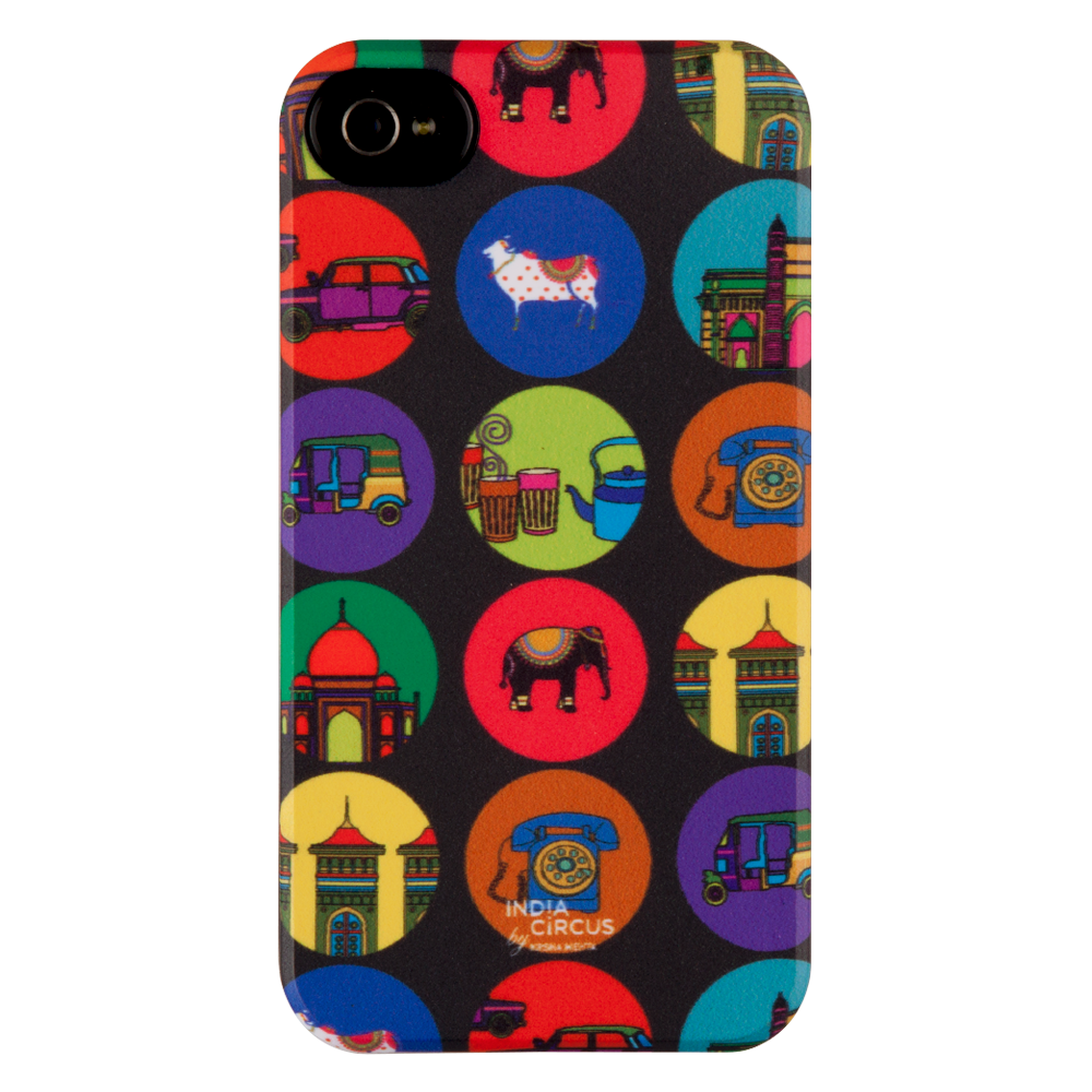 India Vibrant iPhone 4/4s Matte Cover