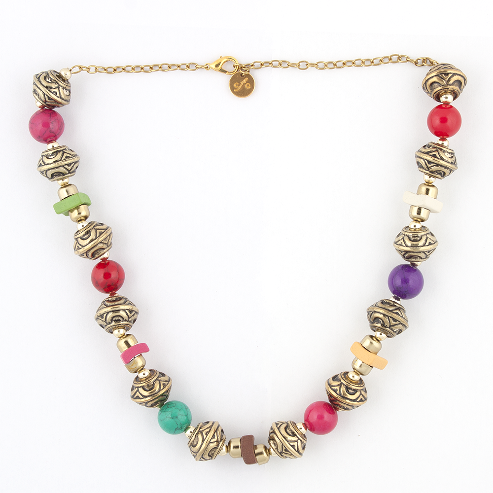 Multicolored Stones Necklace