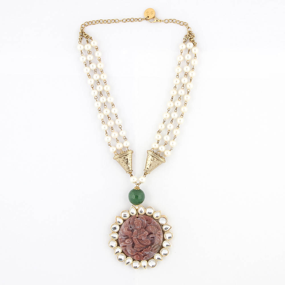 Buddha Pearl Necklace