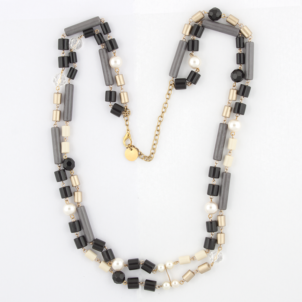 Two tiered Black necklace