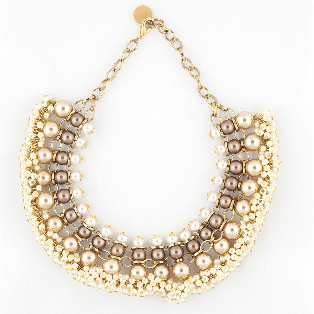 Pearls Collared Necklace