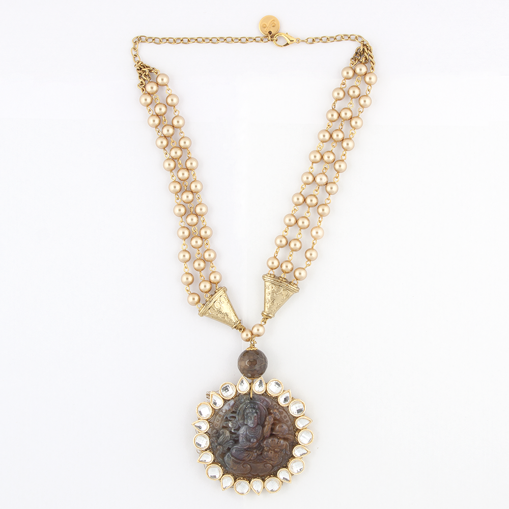 Deity Pearl Necklace