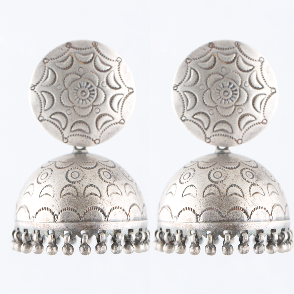 Tribal Silver Jhumka