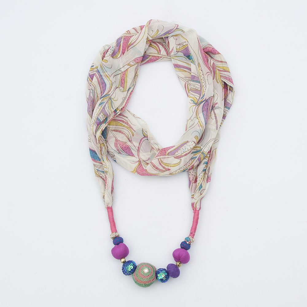 Multicolored Jeweled Stole
