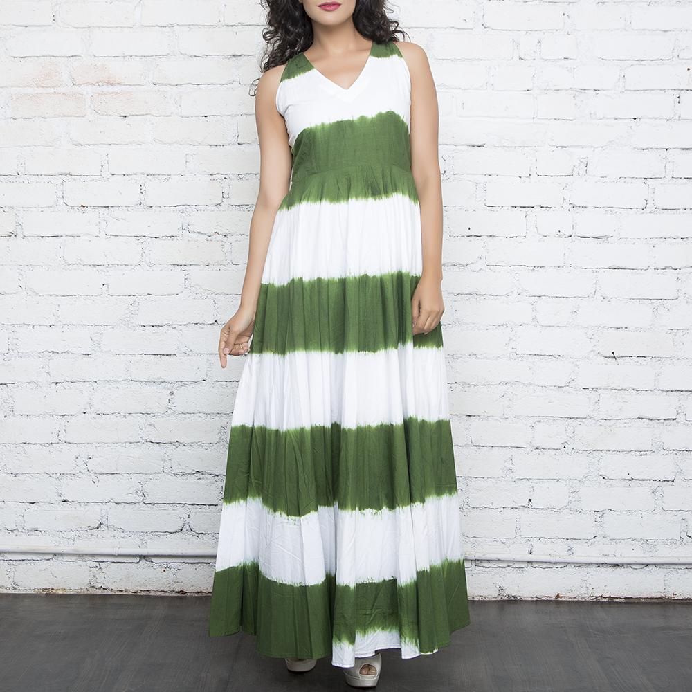 Green Tie &  Dye Maxi