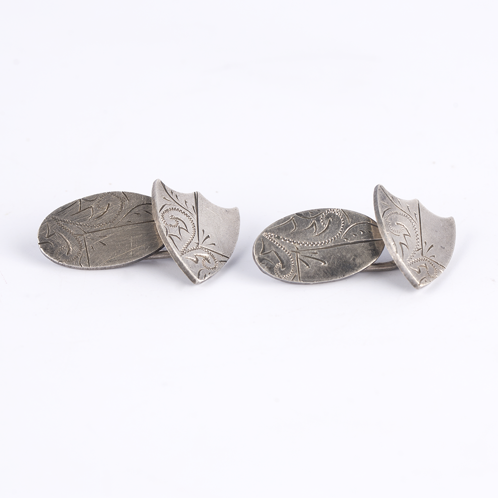Shield Silver Cufflinks