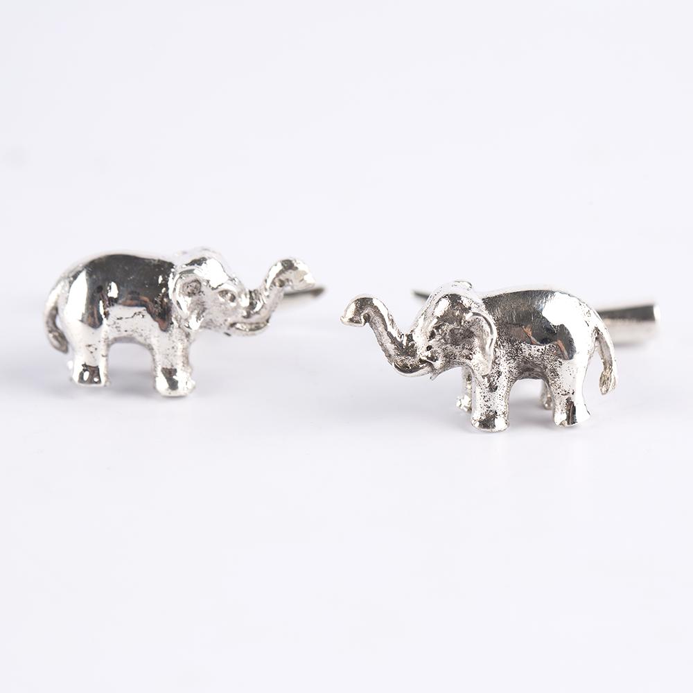 Elephant Silver Cufflinks