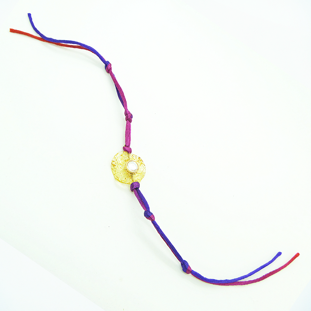 Purple Crystal Rakhi