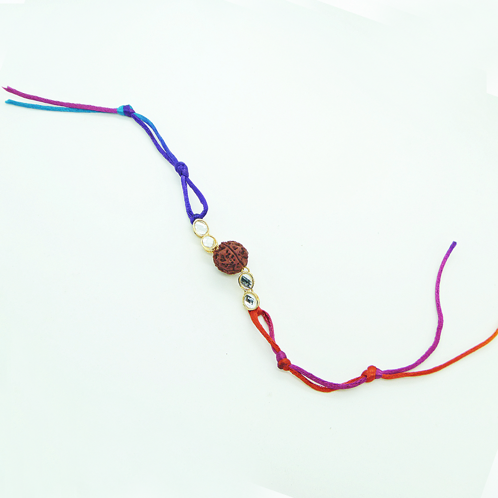 Multicolored Rudrakh Rakhi