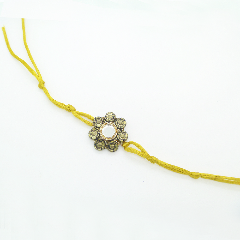 Yellow Floral Rakhi