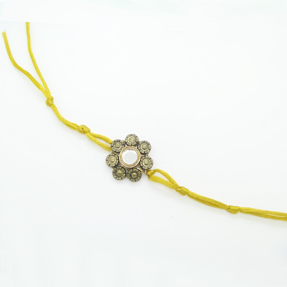 Yellow Floral Rakhi