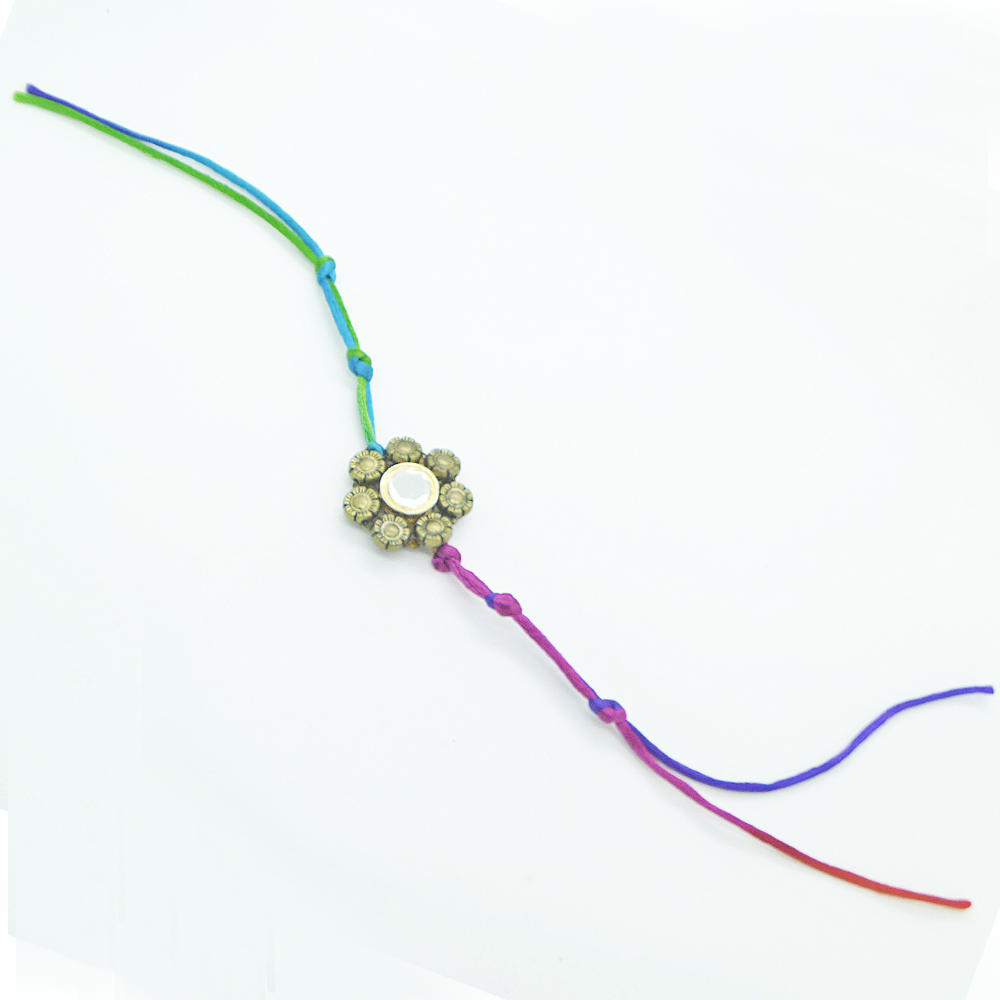 Multiclorored Floral Rakhi