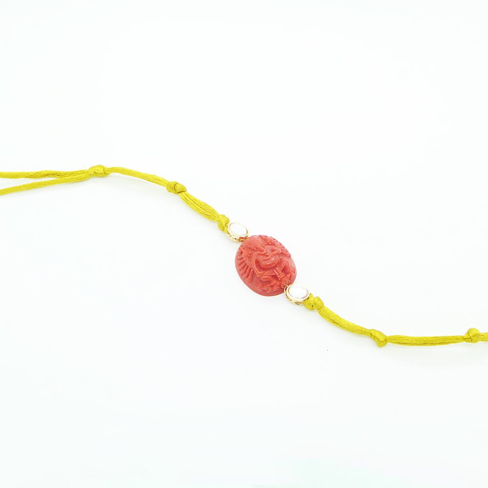 Yellow Ganesha Rakhi