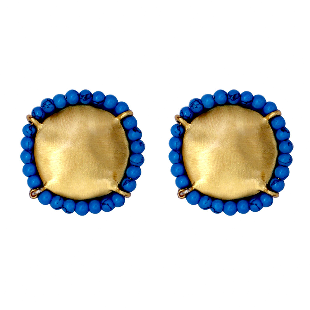 Turqouise Round Earrings