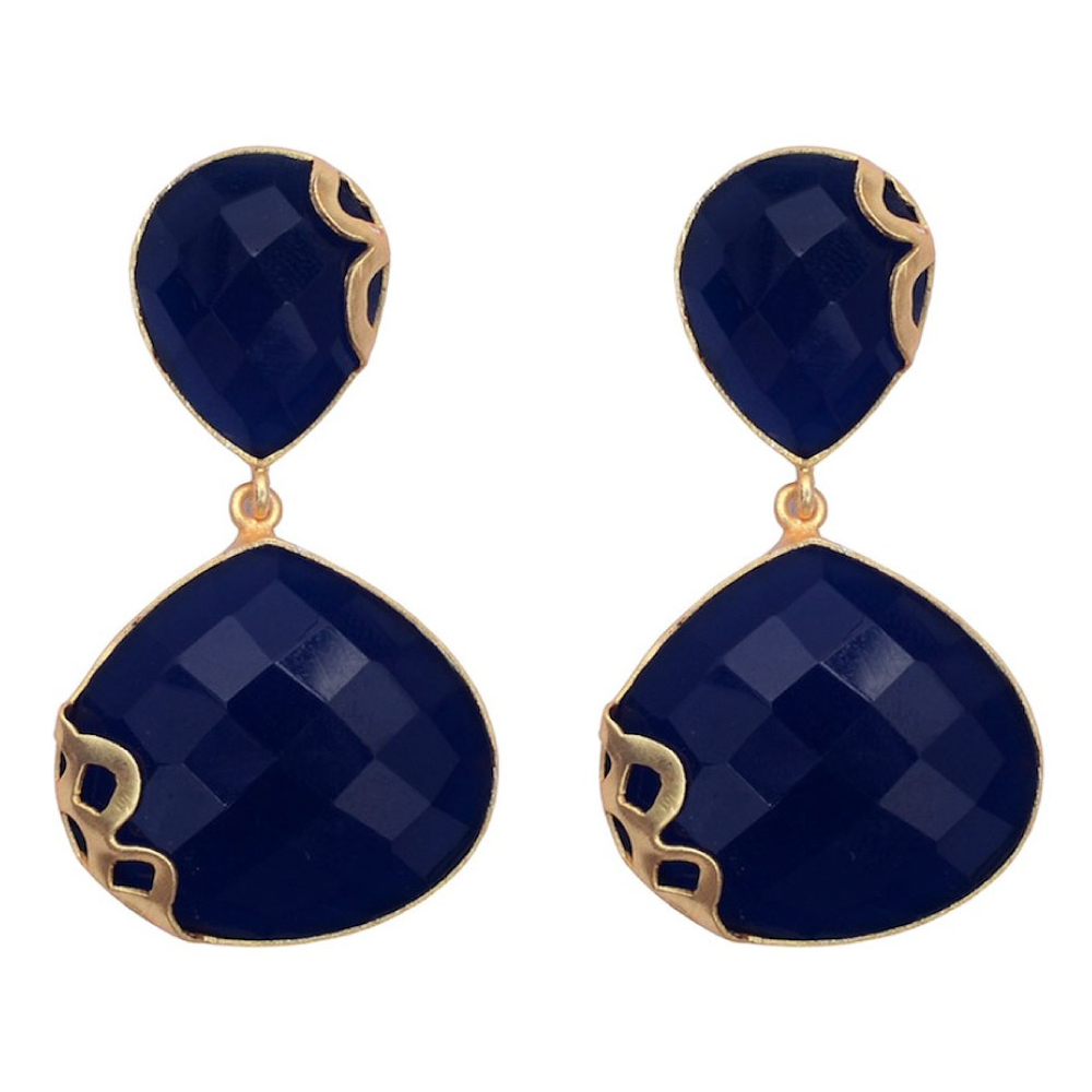 Indigo Drop Earrings