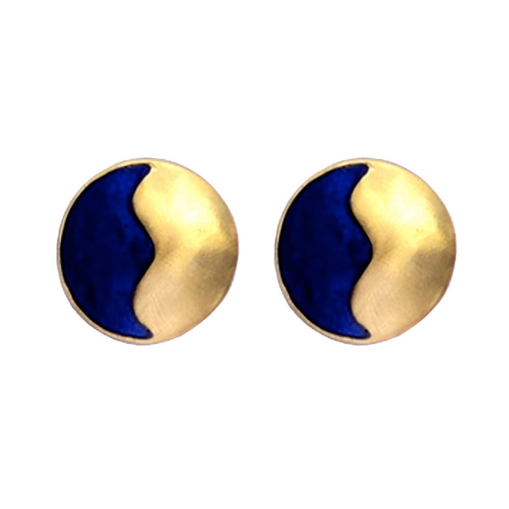 Indigo Round Earrings
