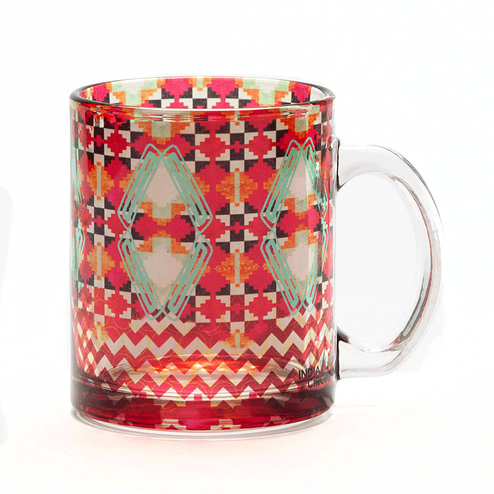 Tribal Emerald Glass Mug